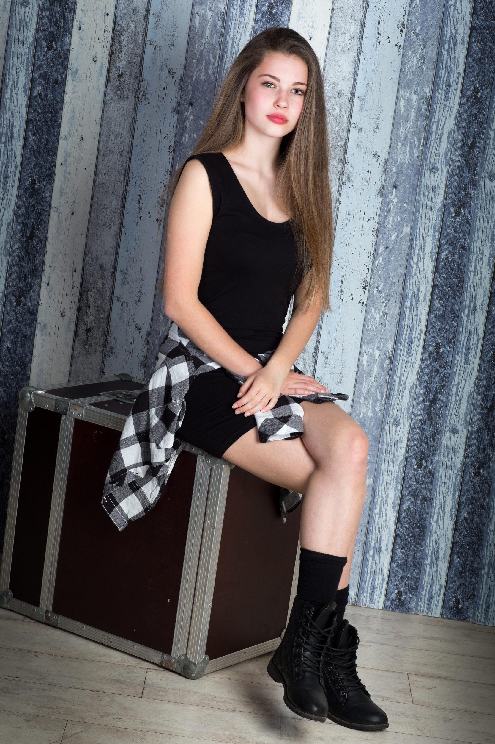 Teen Mädchen Studiofoto